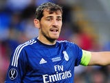 Iker Casillas for Real Madrid on August 12, 2014