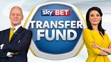 Sky Sports News duo Jim White and Natalie Sawyer advertise the Sky Bet Transfer Fund