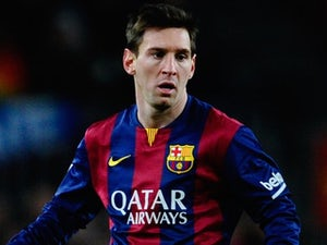 Lionel Messi for Barcelona on February 1, 2015