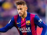 Neymar for Barcelona on December 11, 2014