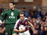 Paolo Di Canio of West Ham United during the FA Carling Premiership game between West Ham United and Bradford City at Upton Park  on February 12, 2000