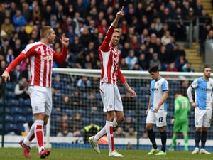 Blackburn lead 10-man Stoke