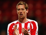 Peter Crouch for Stoke on December 13, 2014