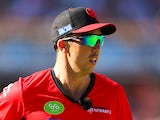 Tom Cooper of the Renegades looks on in field during the Big Bash League match between the Perth Scorchers and the Melbourne Renegades at WACA on December 26, 2014
