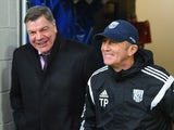Sam Allardyce manager West Ham United and Tony Pulis manager of West Bromwich Albion in discussion prior to the FA Cup Fifth Round match between West Bromwich Albion and West Ham United at The Hawthorns on February 14, 2015