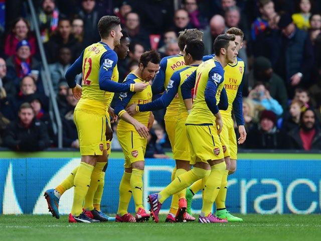 Result: Cazorla, Giroud see Arsenal past Palace