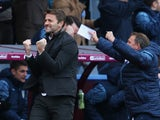 Manager Tim Sherwood of Aston Villa celebrates after Scott Sinclair of Aston Villa opens the scoring during the Barclays Premier League match between Aston Villa and Stoke City at Villa Park on February 21, 2015