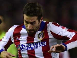 Cani for Atletico Madrid on January 28, 2015