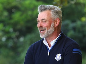 The Open day one: Darren Clarke with the honour of opening tee shot