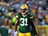 Cornerback Davon House #31 of the Green Bay Packers during the NFL game against the New York Jets at Lambeau Field on September 14, 2014
