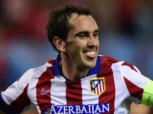 Diego Godin for Atletico Madrid on October 22, 2014