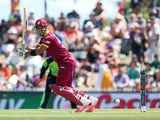 Lendl Simmons of the West Indies bats during the 2015 ICC Cricket World Cup match between the West Indies and Ireland at Saxton Field on February 16, 2015