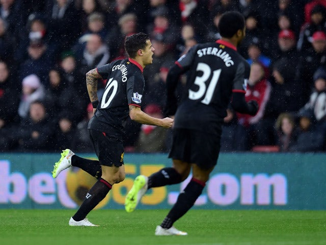 Result: Coutinho, Sterling fire Liverpool to Southampton win