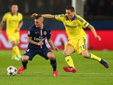 PSG's Marco Verratti evades Nemanja Matic of Chelsea on February 17, 2015