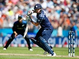 Matt Machan of Scotland bats during the ICC Cricket World Cup match between New Zealand and Scotland at University Oval on February 17, 2015