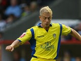 Mike Grella of Leeds United during the Carling Cup First Round match between Darlington and Leeds United at the Northern Echo Darlington Arena on August 10, 2009