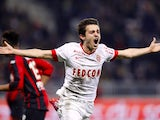 Monaco's Portuguese midfielder Silva Bernardo celebrates after scoring a goal during the French L1 football match Nice (OGC Nice) vs Monaco (ASM) on february 20, 2015