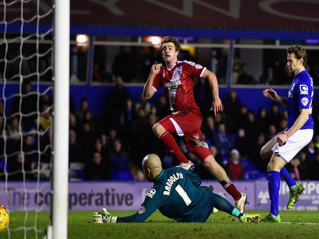 Result: Ten-man Middlesbrough go top with draw