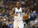 Rajon Rondo #9 of the Dallas Mavericks during play against the Detroit Pistons at American Airlines Center on January 7, 2015
