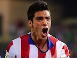 Raul Jimenez for Atletico Madrid on September 20, 2014