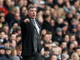 'Big' Sam Allardyce barks orders from the touchline on February 22, 2015