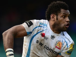 Sireli Naqelevuki of Exeter Chiefs in action during the LV= Cup match between Worcester Warriors and Exeter Chiefs at the Sixways Stadium on February 1, 2014