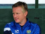 Terry Skiverton, Assistant Manager of Yeovil Town ahead of the Sky Bet League One match between Yeovil Town and Swindon Town at Huish Park on October 18, 2014