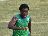 Ivory Coast's forward Wilfried Bony takes part in a training session as part of their preparation for the 2015 African Cup of Nations football tournament in Malabo on January 18, 2015