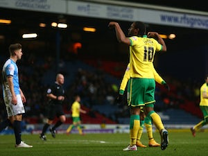Jerome gives Norwich lead against Derby