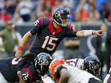 Ryan Mallett #15 of the Houston Texans during second half action against the Cincinnati Bengals at NRG Stadium on November 23, 2014