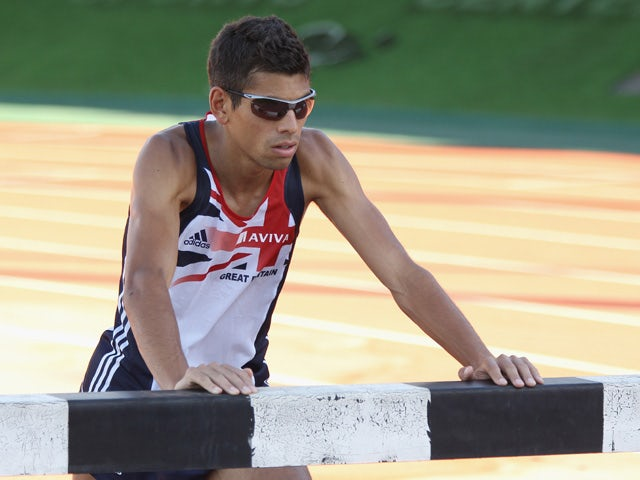 Tom Lancashire of Great Britain trains during the Aviva funded GB & NI Team Preparation Camp on July 21, 2010