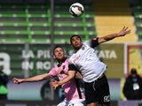 Luca Rigoni of Palermo and Gregoire Defrel of Cesena battel for the ball during the Serie A match between AC Cesena and US Citta di Palermo at Dino Manuzzi Stadium on March 8, 2015