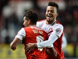 Frederic Bulot of Charlton Athletic celebrates scoring the 2nd charlton goal during the Sky Bet Championship match against Nottingham Forest on March 3, 2015