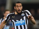 Jonas Gutierrez of Newcastle United on the ball during the Barclays Premier League match against Manchester United on March 4, 2015