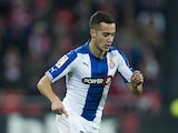 Lucas Vazquez of Espanyolduring the Copa del Rey Semi-Final first leg match between Athletic Club and RCD Espanyol at San Mames Stadium on February 11, 2015