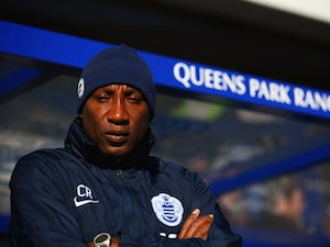 Chris Ramsey manager of QPR looks on prior to the Barclays Premier League match between Queens Park Rangers and Tottenham Hotspur at Loftus Road on March 7, 2015