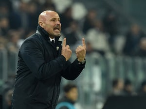 Atalanta BC head coach Stefano Colantuono issues instructions during the Serie A match between Juventus FC and Atalanta BC at Juventus Arena on February 20, 2015