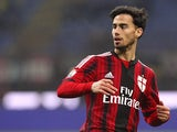 Suso of AC Milan looks on during the TIM Cup match between AC Milan and SS Lazio at Stadio Giuseppe Meazza on January 27, 2015