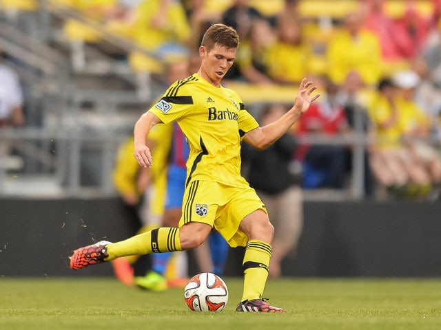 Will Trapp #20 of the Columbus Crew controls the ball against Crystal Palace FC in an international friendly match on July 23, 2014