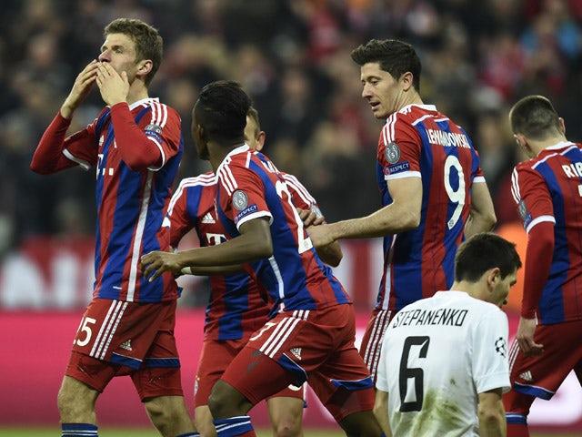 Result: Bayern punish 10-man Shakhtar