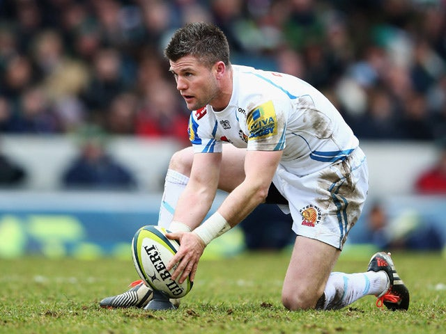 Ceri Sweeney of Exeter Chiefs in action during the LV= Cup: Semi Final match between Leicester Tigers and Exeter Chiefs at Welford Road on March 15, 2015
