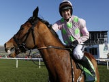 Ruby Walsh riding Faugheen win The Stan James Champion Hurdle at Cheltenham racecourse on March 10, 2015