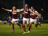 George Boyd scores the opener for Burnley against Manchester City on March 14, 2015