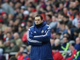A tense Gus Poyet on the sideline as Sunderland go down to Aston Villa on March 14, 2015