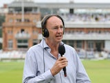 BBC Test Match Special commentators Jonathan Agnew and Rahul Dravid ahead of day four of 2nd Investec Test match between England and India at Lord's Cricket Ground on July 20, 2014