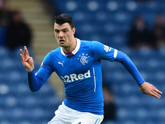 Haris Vuckic of Rangers in action during the William Hill Scottish Cup Fifth Round match between Rangers and Raith Rovers on February 8, 2015