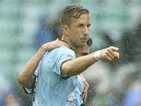 Marc Janko of Sydney FC celebrates after scoring his teams second goal during the round 21 A-League match between Sydney FC and Brisbane Roar at Allianz Stadium on March 15, 2015