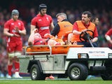 Samson Lee of Wales is stretchered off by medics during the RBS Six Nations match between Wales and Ireland at the Millennium Stadium on March 14, 2015