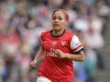 Alex Scott of Arsenal Ladies during the FA Women's Cup Final match between Everton Ladies and Arsenal Ladies at Stadium mk on June 1, 2014