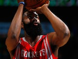 James Harden #13 of the Houston Rockets faces the Denver Nuggets at Pepsi Center on March 7, 2015